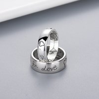 Women Girl Flower Bird Pattern Ring with Stamp Blind for Lov...