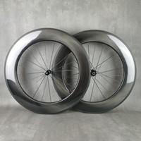 700C Vélo de roue de carbone Wheelset de carbone 88mm Profondeur 25mm Largeur CLISCHER / TUBULAIRE UD UD GLOYSY, HIGH FRAME ROUES HUM HUB de haute qualité