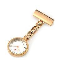 Moderne Concise Stil Hanging Sanitäter Arzt Taschenuhr Krankenschwestern Uhren silbrig und Rose Gold Farbe 6 Stück