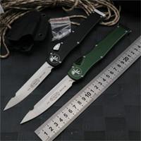MICROTECH 150-10 HALO V 6 faca automática ELMAX lâmina de alumínio de liga de pega exterior de campismo faca tático