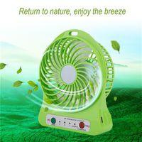 22222 Mini Air43 Cooler LED fonctionnant sur batterie ventilateur de refroidissement LED USB de charge de bureau Cooler 3 Vitesse Dimming Modes d'éclairage Fonction ventilateurs