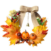 Fall Harvest Decor Artificial Pumpkin Garland Halloween Than...