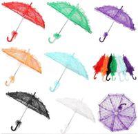 Gelin Dantel Şemsiye Uzun sap dantel Şemsiye Nakış Düğün Şemsiye El yapımı Sanat düğün Nedime Dans Çocuk LSK1409 için sahne