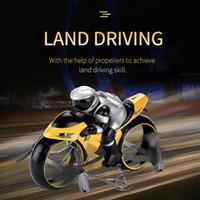2.4G RC Land воздуха Мотоцикл 2в1 Мини Летающий мотоцикл дистанционного управления автомобилей высокой скорости дрифт Мотоцикл модели с Light Детские игрушки 02