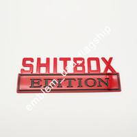 1PC لامعة 7 '' shitbox EDITION شعار الشارات ملصقات السيارات الكبيرة