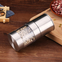 Aço inoxidável Pepper Mill Grinder manual de Sal portátil Cozinha Moinho Muller Spice Sauce Grinder Pepper Mill Home Kitchen Ferramenta FFA4331-1