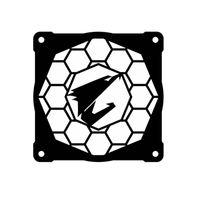 Fanlar Soğutma Bilgisayar Bileşenleri Aorus Fan Kapağı için Ana Bilgisayar Aynası 12 cm Soğutma Lengshui Dekoratif Su Soğutmalı Aksesuarlar