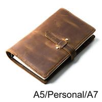 المفكرة handnote خمر جلد طبيعي دفتر A5 الشخصية A7 مذكرات السفر مجلة مخطط كراسة الرسم
