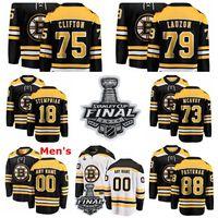 Boston Bruins Jerseys Lee Stempniak Jersey Connor Clifton Jeremy Lauzon Charlie McAvoy Blanco Blanco Hockey sobre hielo Hockey de hielo personalizado cosido