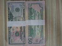 Stati Uniti America Fake Banknotes Dollari Dollari 50 dollari per la decorazione domestica per i bambini che imparano