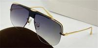 Yeni moda tasarımı koruyucu gözlük en kaliteli UV400 0724 kare metal yarım çerçeve gözlük çerçevesi klasik ve cömert bir şekil güneş gözlüğü