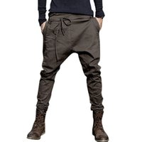 E-Baihui 2020 European and American New Style Men's Trousers Men's Solid Color Lace-up Pants Casual Long-leg Pants F98046