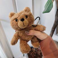 Airpods Caso fone de ouvido capa para desenhos animados malha Plush Capa Para Airpods 1 2 Cover Earpods Pro Coelho 3 Caso Dog Teddy Bear
