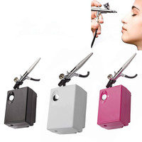 Airbrush Makeup Kit With Mini Air Compressor Single Action A...