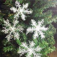 Venda quente do floco de neve Decoração 2020 Árvore de Natal Decoração para casa janela Weddding Party Stickers 3 pcs