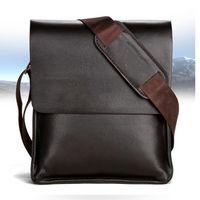 حقائب الرجال حقيبة الأعمال عارضة الأعمال PU جلد رجل رسول حقيبة خمر رجال CROSSBODY حقيبة شركة Bolsas الأسود براون حقائب الكتف