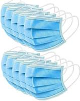 Masque jetable - Sécurité Masque Visage (paquet de 50) non tissé épais 3 couches respirante avec masques réglable earloop, Anti Gouttelettes