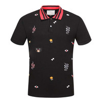 20SS NEW NOUVEAU Hommes Polos Chemise Mode Medusa Coton Polo Chemise Snake Bee Broderie Harajuku Casual Hommes Polos Chemises