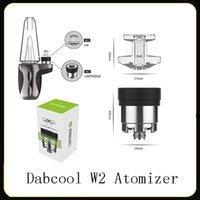 100% Concentrado Original DABCOOL W2 Enail Atomizador Hookah Wax bobina Tanque Budder Dab Rig Vape Kit Com 4 Calor Configurações de Longa Duração Genuine