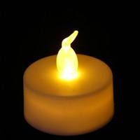 LED الخصم الاقمشه بيركلي الرجفة بطارية شمعة البلاستيك عديمة اللهب الشاي الخفيف الزفاف حفلة عيد الميلاد عيد الميلاد الديكور هالوين ضوء الشموع ZX BH1904