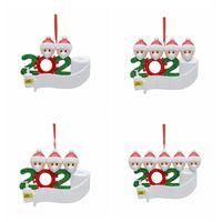 2020 Рождественская елка висячие украшения семьи из 5 Рождественские украшения кулон Home Xmas партии украшения CYZ2708