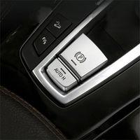 AUTO H الالكترونية فرملة اليد أزرار P ملف الترتر الغلاف الديكور تريم للحصول على BMW X5 E70 E71 F15 X6 F16 السيارات التصميم الداخلية
