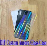 DIY Custom TPU+ PC Plexiglass Mobile Phone Case Material Whit...