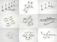 144pcs Брови кольцо Erybrow pircing 316L хирургическая сталь моды драгоценности пирсинга Превосходное качество