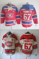 2015 Montréal gros hommes Canadiens # 67 Maillots à capuchon beige / rouge pacilretty Hockey Sweat-shirts Maillots, Livraison rapide
