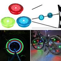 자전거 조명 자전거 스포크 산 스틸 와이어 LED 에어 휠 장식 승마 장비 액세서리