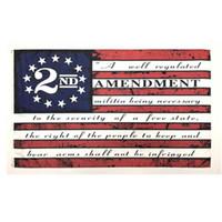 2. Änderung Vintage American Flag Outdoor-Banner Flagge 90cm * 150cm Polyester Gewohnheit USA College Basketball Flaggen w-00261