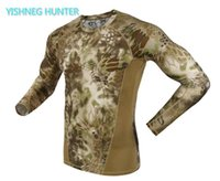 2020 autumn Long Sleeve Camouflage T-shirt Men Tactical Army Combat T Shirt Quick Dry Camo Hunt Clothing Casual T shirt
