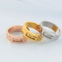Personality Hip Hop Couple Rings 18K Rose Gold Wedding Rings...