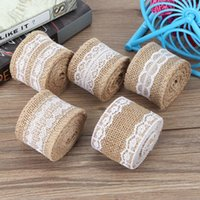 10 Rolls Elegant Linen Lace Edged Christmas Wedding DIY Mate...