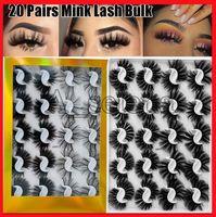20 пар 25 мм 3D норки ложные ресницы натуральные длинные ресницы ручной работы Уиска пушистый пушистый сексуальный глаз макияж