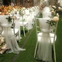 2X1.5M Organza della sedia del telaio di copertura di Tulle per matrimoni Eventi Party Banquet di Natale della decorazione della casa del mestiere di DIY dell'arco di alimentazione