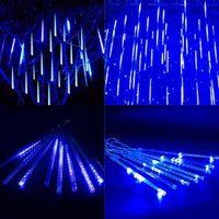Luzes de barras LED queda LED Tubo Luzes de Natal ao ar livre 8 Pçs / set 30cm Blue US Plug AC 110-240V Home Holiday Arte Decoração -L