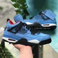 2019 New arrivée 4s IV 4 Travis Scot 308497-406 Houston Oilers Cactus Jack Mens Basketball Chaussures Taille 8-13 Athletic Baskets
