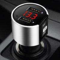 Громкая связь Bluetooth 4.2 FM-передатчик модулятор Автомобильное зарядное 3.1A Dual USB автомобильный адаптер MP3-плеер Беспроводной аудио приемник Черный