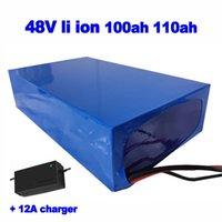 Li ion de 48V 100Ah personalizada 110Ah litio Lipo batería para carretilla elevadora UPS AGV EV calle sistema solar barredora VAN + cargador 12A