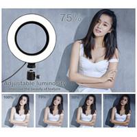 في المخزون عكس الضوء الصمام استوديو كاميرا الدائري ضوء صور الهاتف ضوء الفيديو الحلقي مصباح مع حوامل selfie عصا حلقة ملء