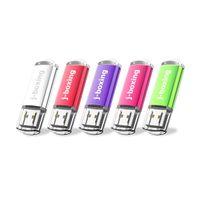 5PCS 64GB USB 3.0 فلاش محركات فلاش محرك أقراص فلاش 3.0 مستطيل الإبهام محركات USB Drive 3.0 عالية السرعة 128GB القلم محركات أقراص PC Mac Multicolour