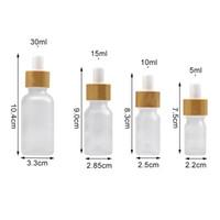 الصقيع زجاج القطارة زجاجة 5ML 10ML 15ML 30ML إفراغ التجميل التغليف عطور الحاويات قوارير زجاجات من الضروري النفط الصغيرة