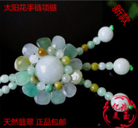 Natural Myanmar A- goods Jadeite Ice Waxy Necklace Pendant Ha...
