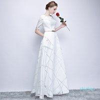 Hot Sale Uizvtik Summer Dress For Women 2019 Elegant Formal Ball Gown Long Party Dress Female Casual Plus Size Slim Maxi Dresses White