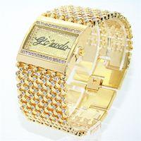 GLEVDO novíssimo Feminino Relógios GD luxo presentes de cristal de aço inoxidável Ladies pulseira relógios Moda relógios de quartzo X0926