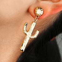 Cinco pares de joyas de aleación de plata para mujeres pendientes con planta chapada en oro de 18k kendra cuelgan pendientes