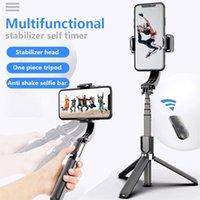 المثبتات المثبت الذكية رقاقة المضادة للاهتزاز أنيق طوي ترايبود المحمولة gimbal المحمولة selfie عصا أوضاع كاميرا متعددة