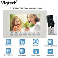 "Video Door Phones 7"" Wired Intercom System Ring Doorbell Night Vision IR Security Camera Waterproof Unlock Monitor For Home Ph"