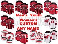 New Jersey Devils Formalar Martin Brodeur Jersey Adam Henrique Nathan Bastian Nico Hischier Jack Hughes Buz Hokeyi Formalar Özel Dikişli